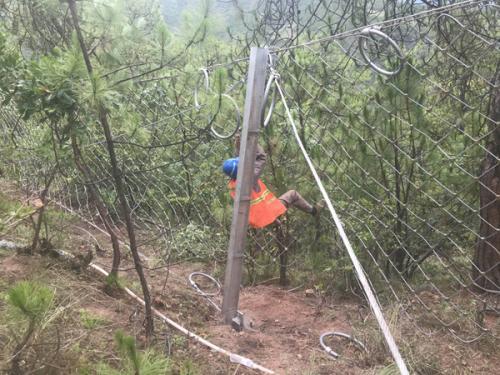 云南怒江六兰公路边坡防护工程